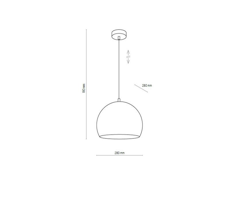 TK Lighting TK-2810 Tempre lámpa függeszték
