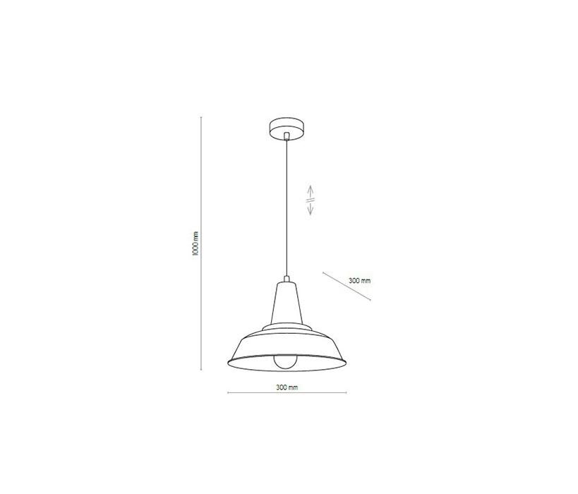 TK Lighting TK-1648 Bell függeszték