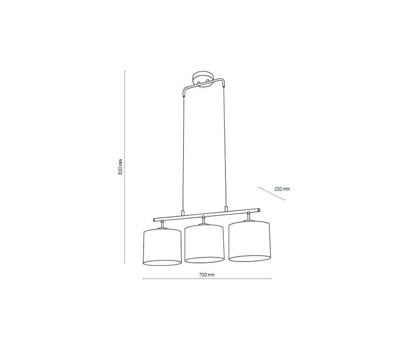 TK Lighting TK-4456 Trewir függeszték