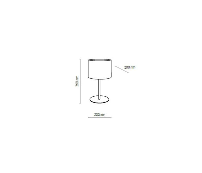 TK Lighting TK-5225 Mia asztali lámpa