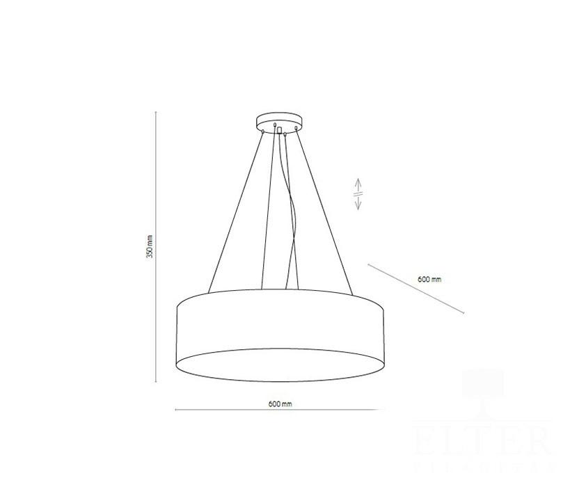 TK Lighting TK-4247 Vienna függeszték