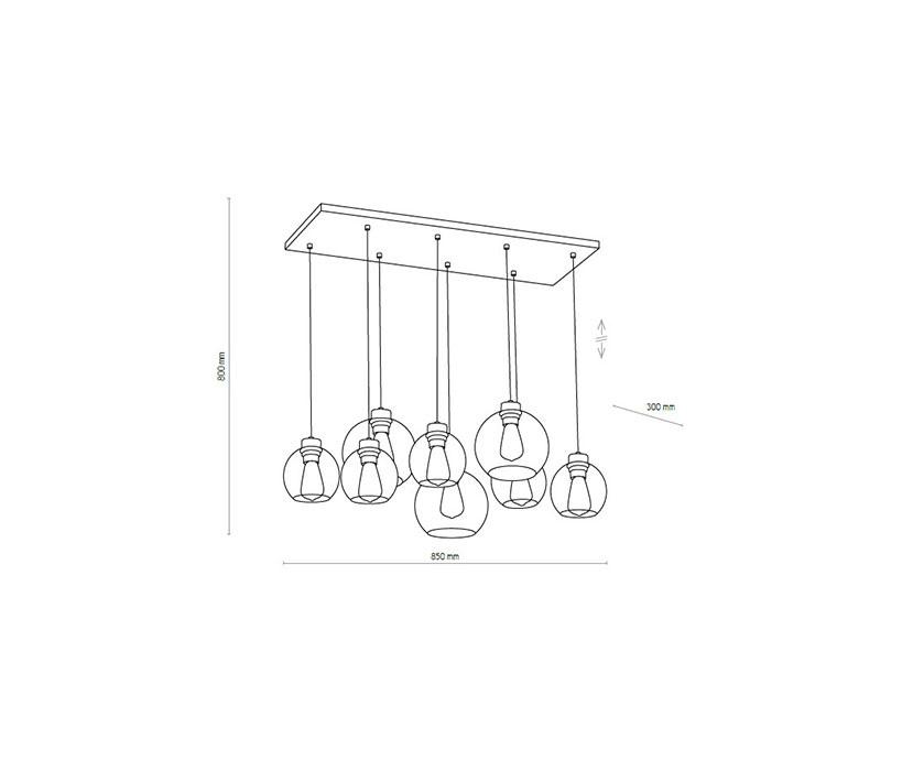TK Lighting TK-2834 Cubus függeszték