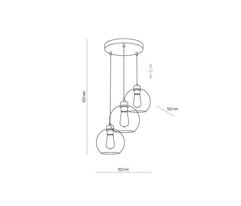 TK Lighting TK-2831 Cubus függeszték
