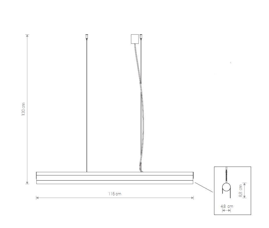 Nowodvorski TL-8906 Q LED függeszték