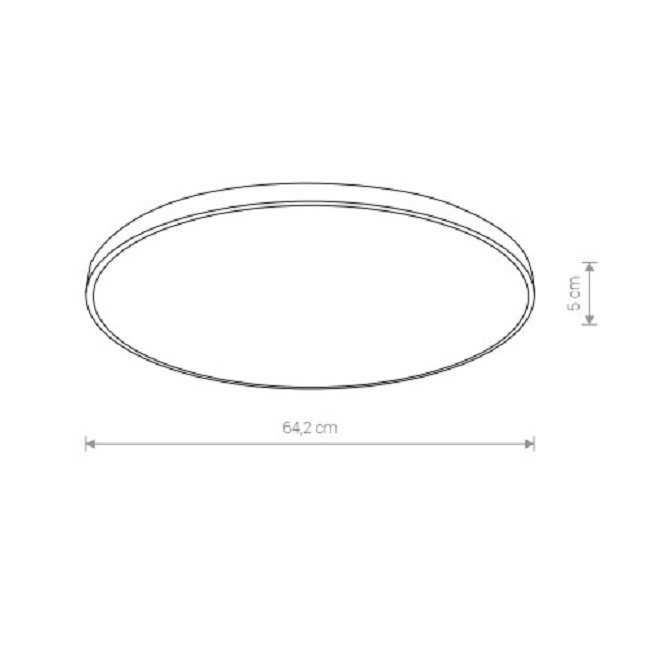 Nowodvorski TL-9165 Agnes Round LED mennyezeti lámpa