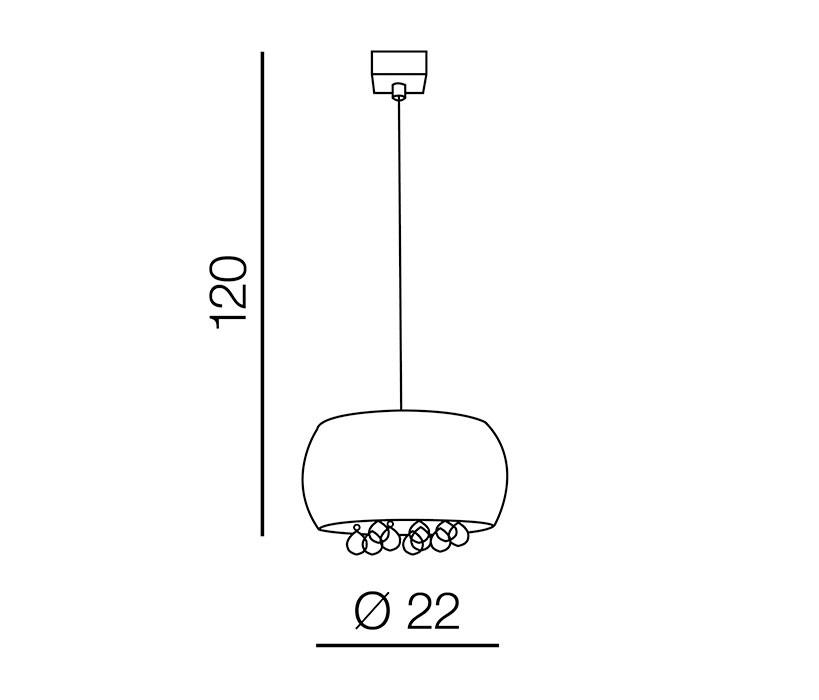 AZzardo AZ-3080 Quince függeszték