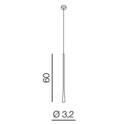 AZzardo AZ-3091 Kalia LED függeszték
