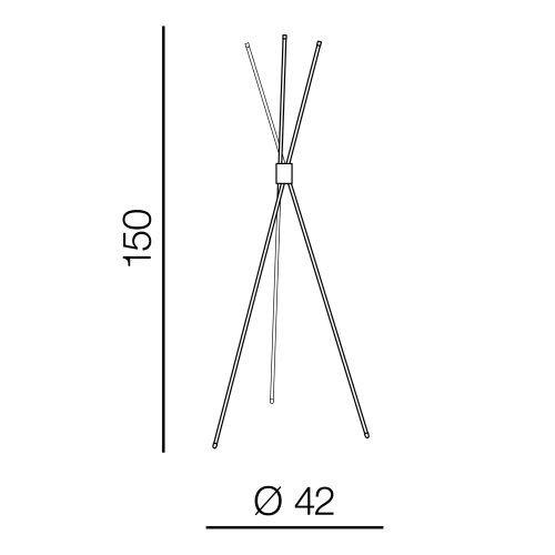 AZzardo AZ-3136 Jax LED állólámpa