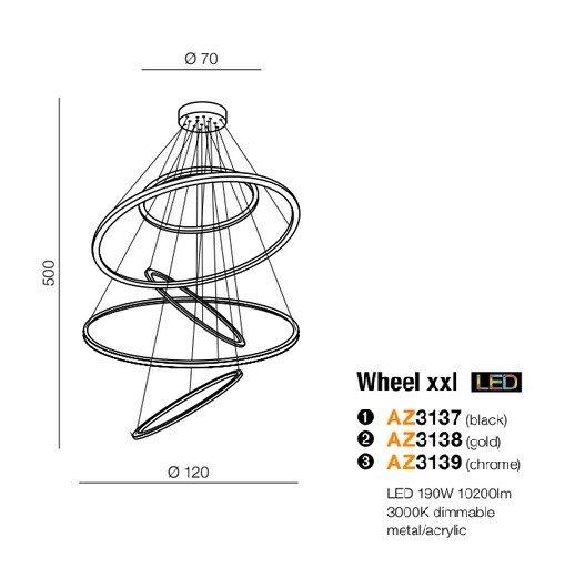 AZzardo AZ-3137 Wheel LED függeszték