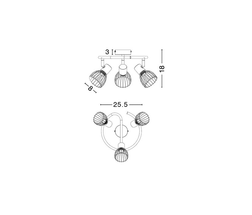 Nova Luce NL-770012 Fiumicino mennyezeti lámpa
