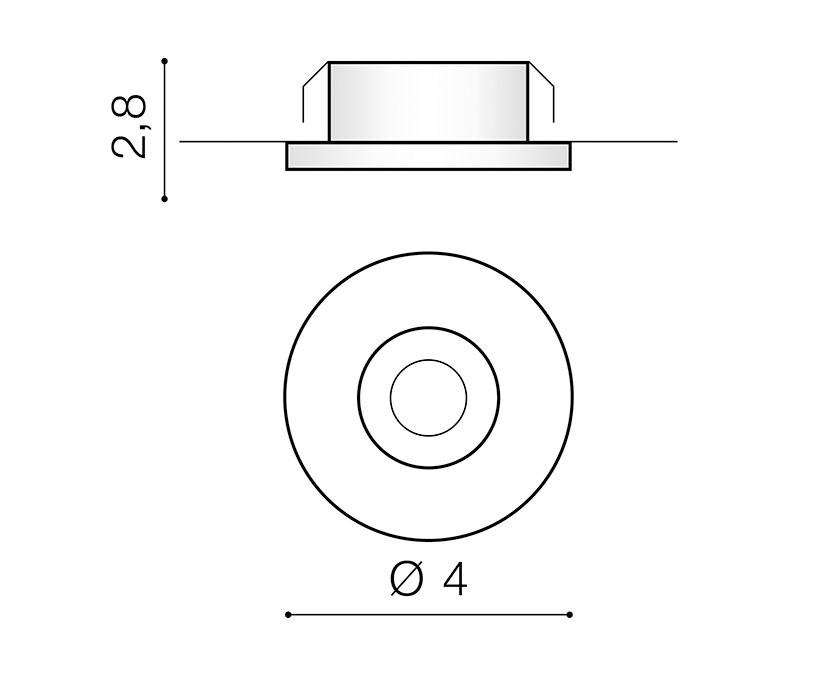 AZzardo AZ-3382 Fill LED beépíthetõ lámpa