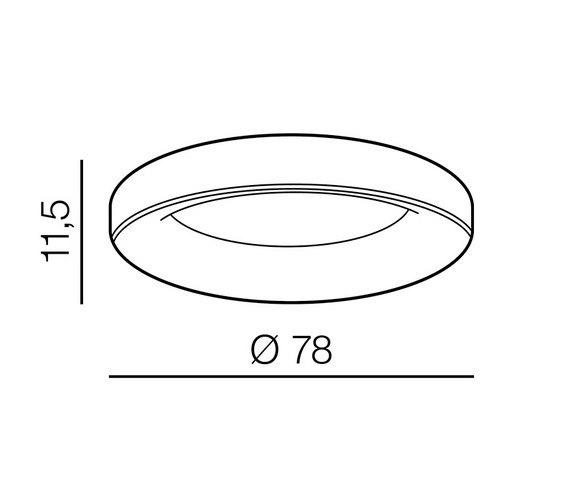 AZzardo AZ-3445 Sovana távirányítós LED mennyezeti lámpa