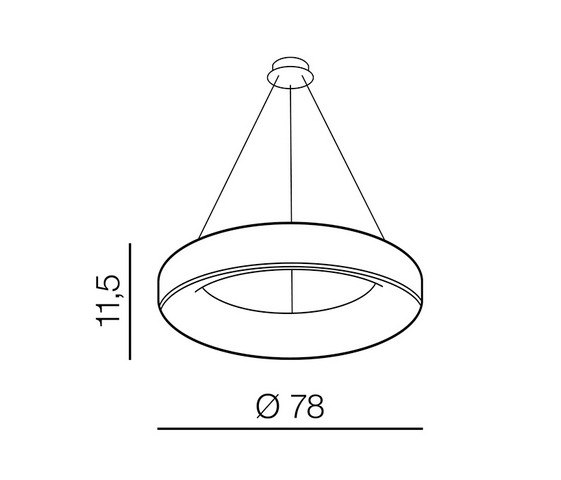 AZzardo AZ-3449 Sovana távirányítós LED függeszték
