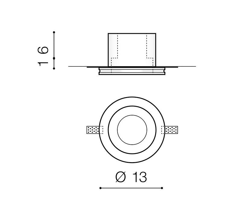 AZzardo AZ-3465 Hera Gips beépíthetõ lámpa