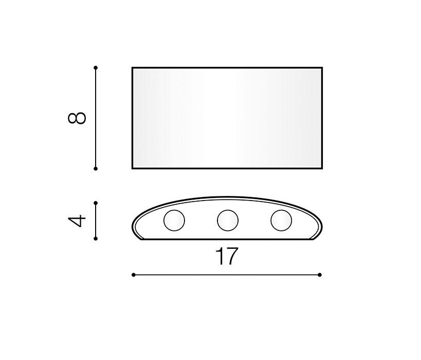 AZzardo AZ-3484 Ginna LED kültéri homlokzatvilágítás