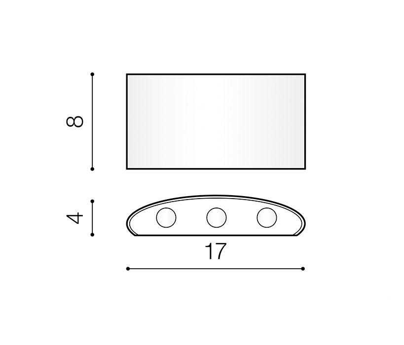 AZzardo AZ-3485 Ginna LED kültéri homlokzatvilágítás