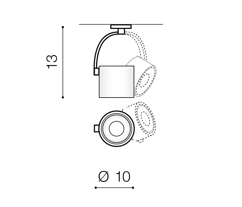 AZzardo AZ-3498 Bross Arm spotlámpa