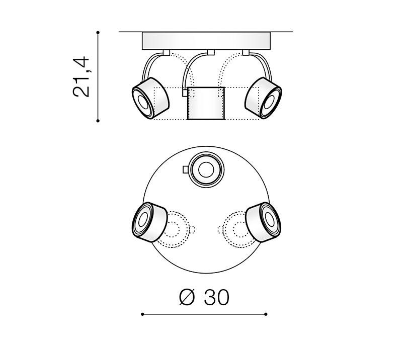 AZzardo AZ-3504 Bross Arm spotlámpa