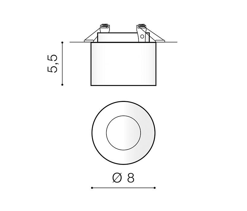 AZzardo AZ-3539 Gelo beépíthetõ lámpa