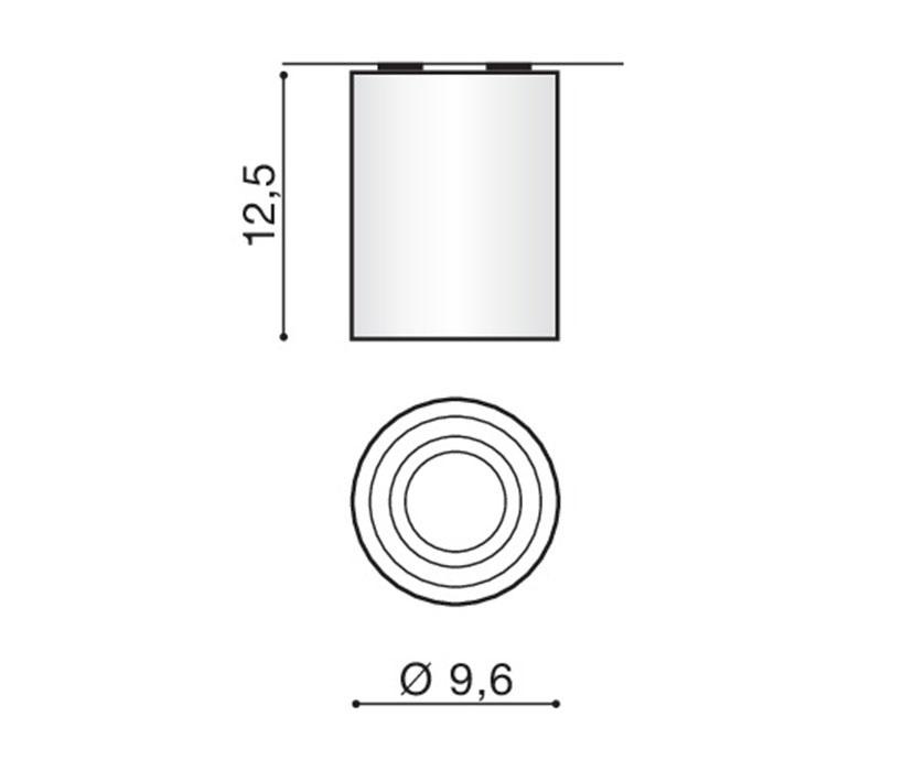 Azzardo AZ-1437 Bross mennyezeti lámpa