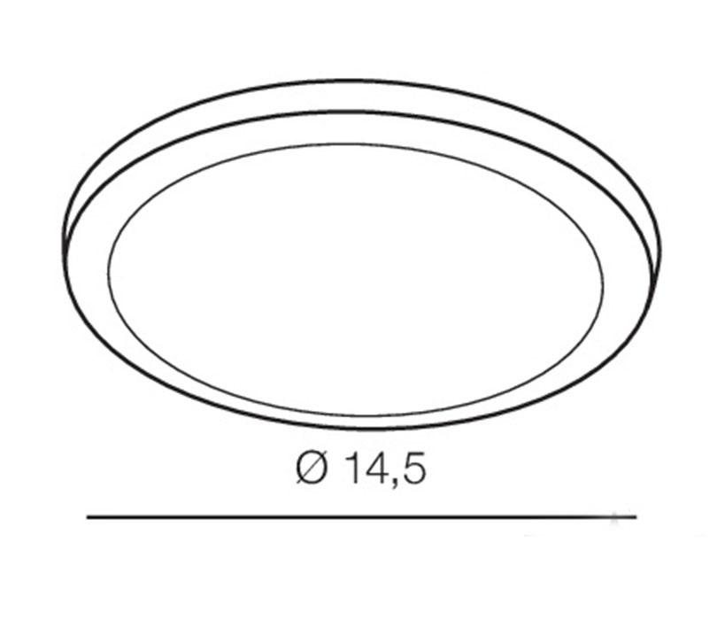 AZzardo AZ-2843 Slim Round LED beépíthetõ fürdõszobai lámpa