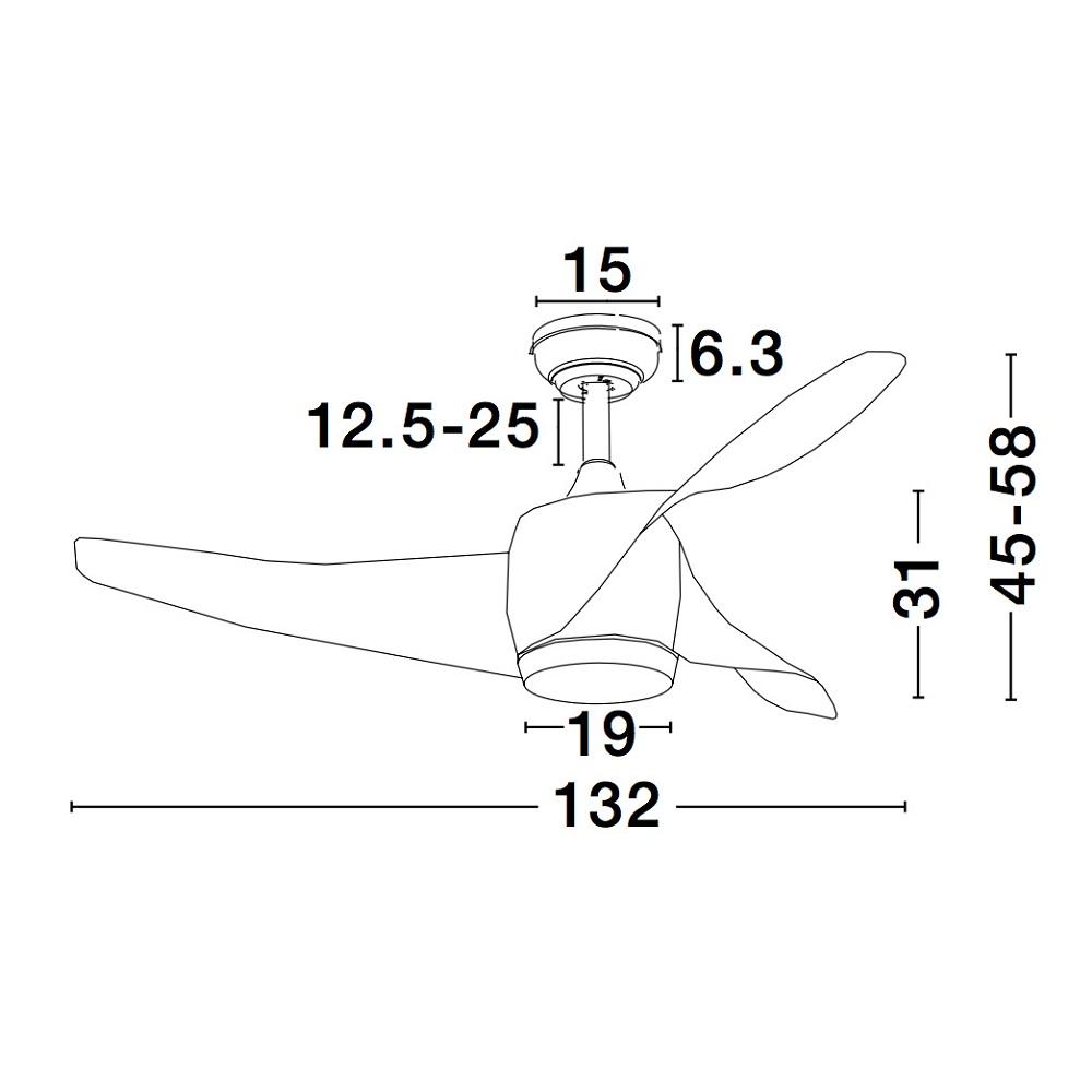 Nova Luce NL-5267611 Breeze LED ventilátoros függeszték