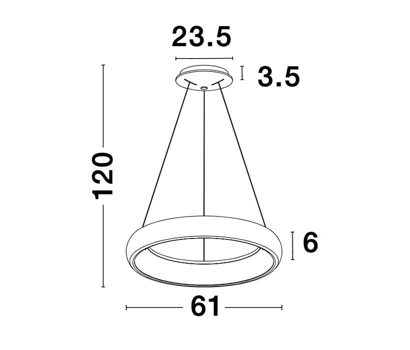 Nova Luce NL-8105601D Albi LED függeszték