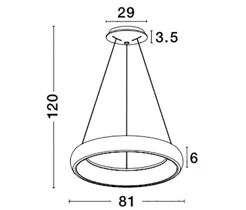 Nova Luce NL-8105609 Albi LED függeszték