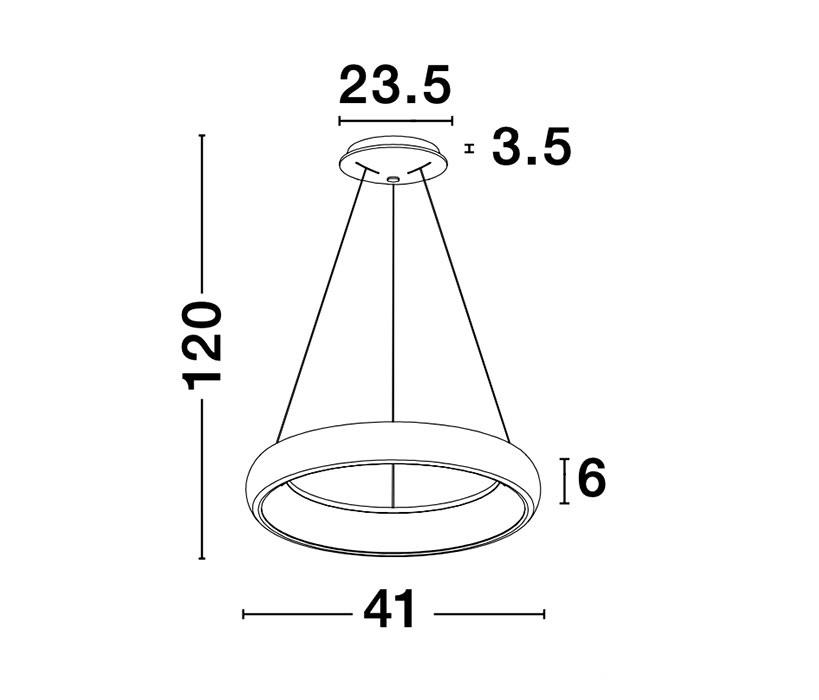 Nova Luce NL-8105618 Albi LED függeszték