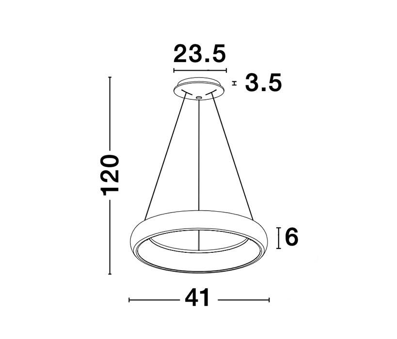 Nova Luce NL-8105620 Albi LED függeszték