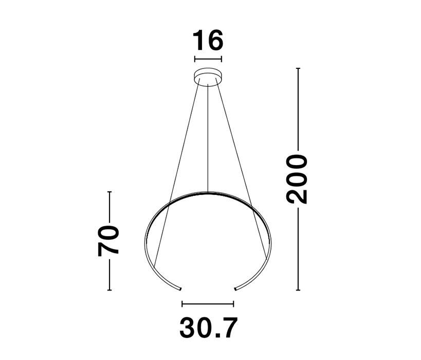 Nova Luce NL-9010021 Breda LED függeszték