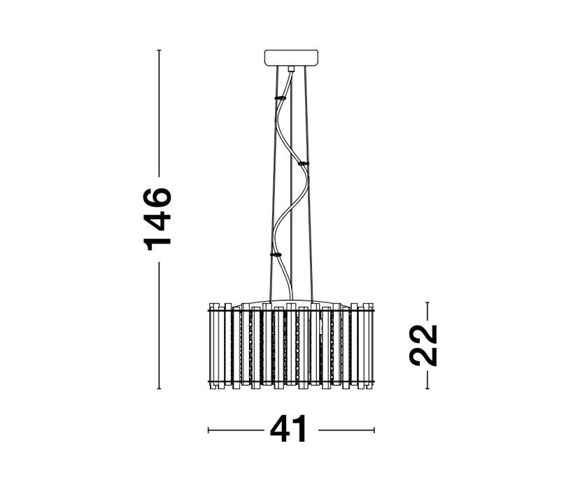 Nova Luce NL-9046505 Element kristály függeszték