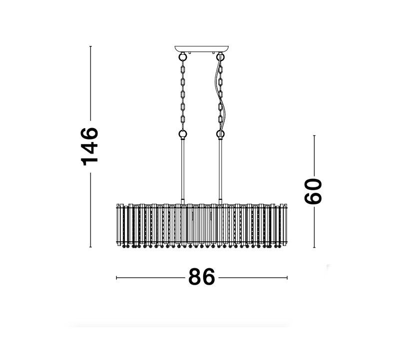 Nova Luce NL-9046506 Element függeszték