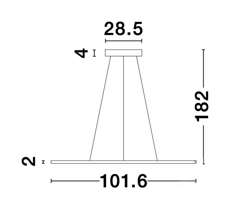 Nova Luce NL-9100145 Oderick LED függeszték
