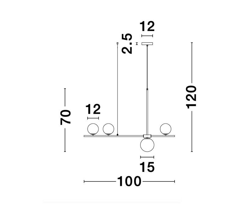 Nova Luce NL-9100441 Impero függeszték