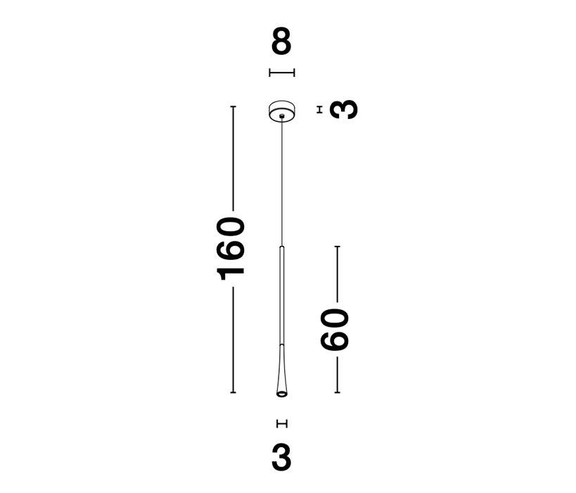 Nova Luce NL-9102591 Goccio LED függeszték