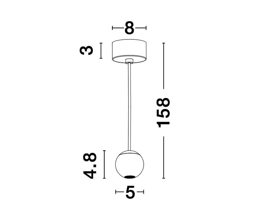 Nova Luce NL-9103212 Nocci LED függeszték