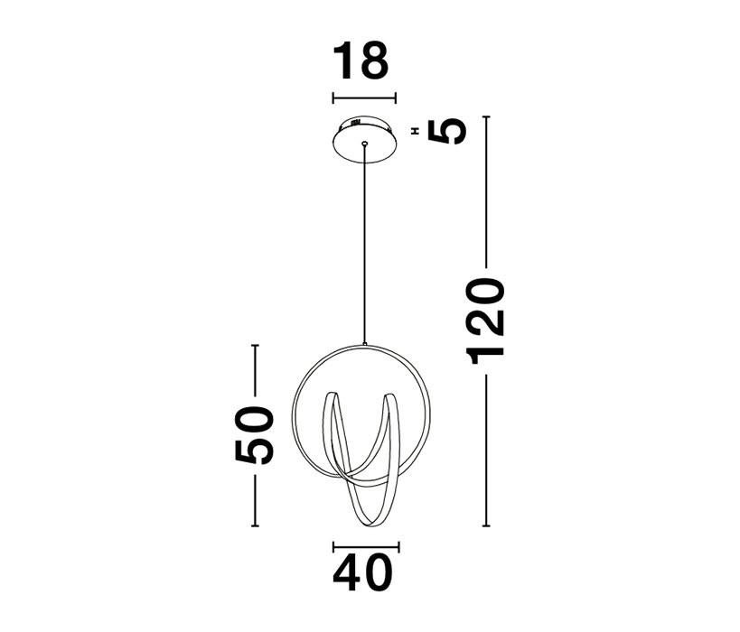 Nova Luce NL-9104311 Rings LED függeszték
