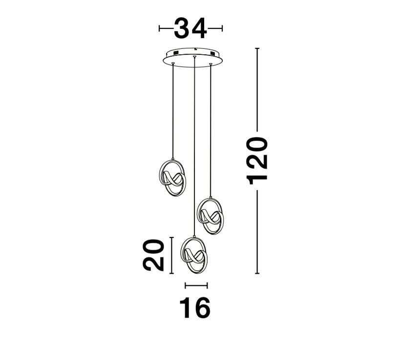Nova Luce NL-9104331 Rings LED függeszték