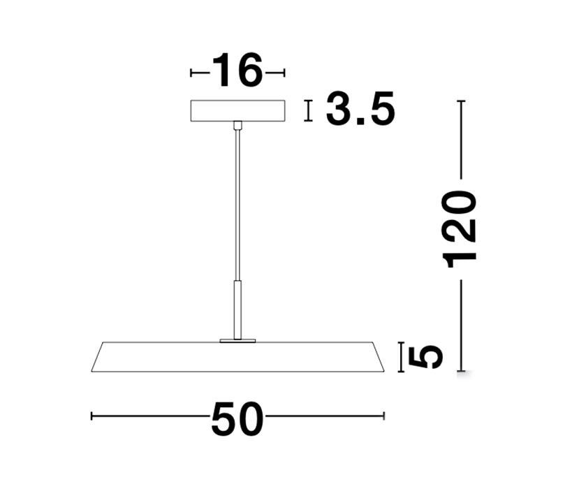 Nova Luce NL-910621 Vetro LED függeszték