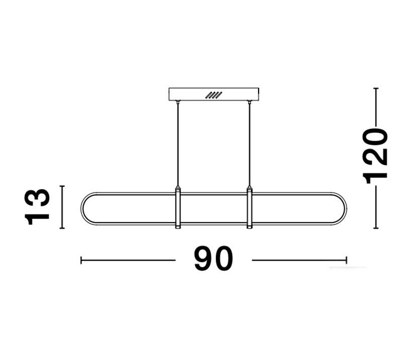 Nova Luce NL-9113122 Arte LED függeszték