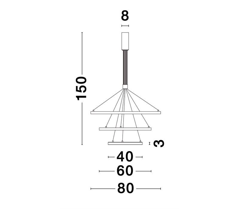 Nova Luce NL-9174108 Empatia LED függeszték