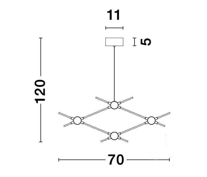 Nova Luce NL-9180674 Atomo LED függeszték