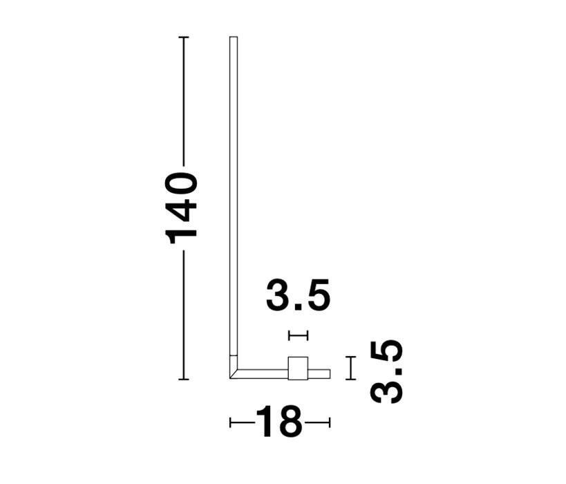 Nova Luce NL-9180726 Raccio LED állólámpa