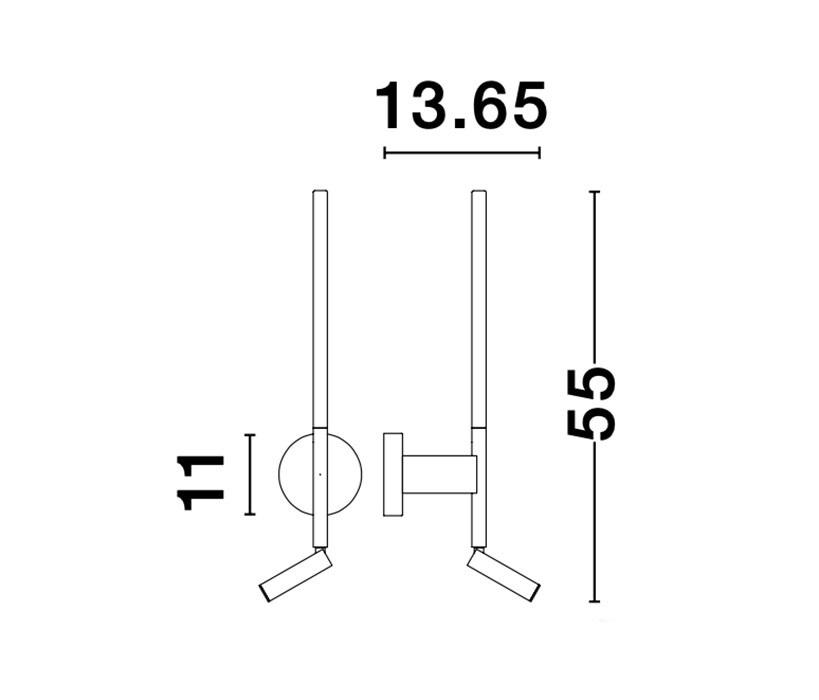 Nova Luce NL-9182812 Handy LED falikar