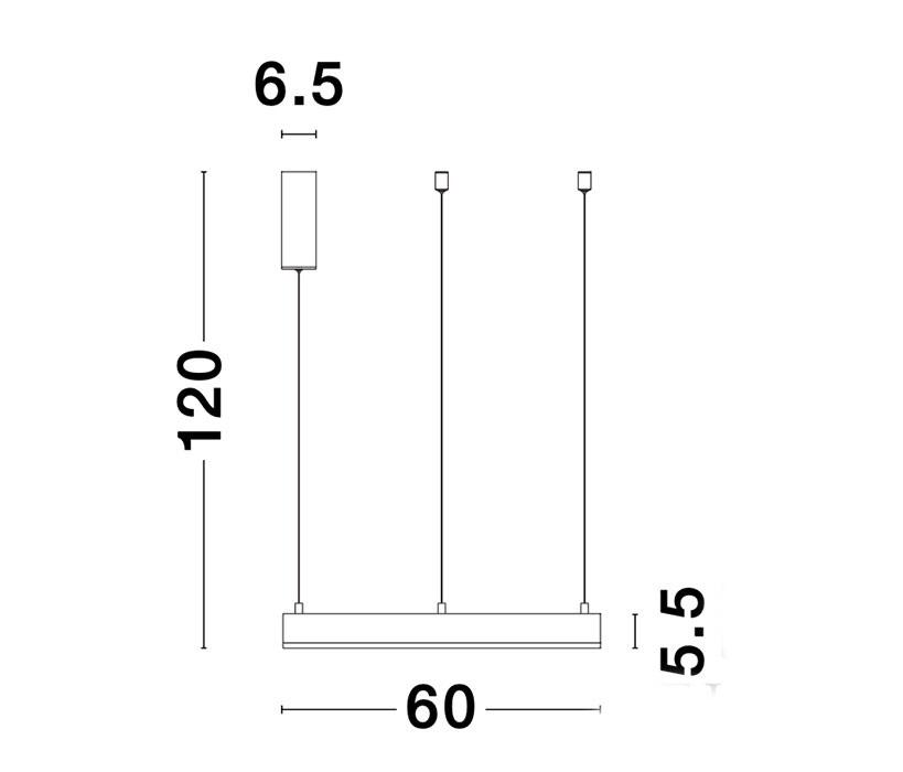 Nova Luce NL-9190640 Motif LED függeszték