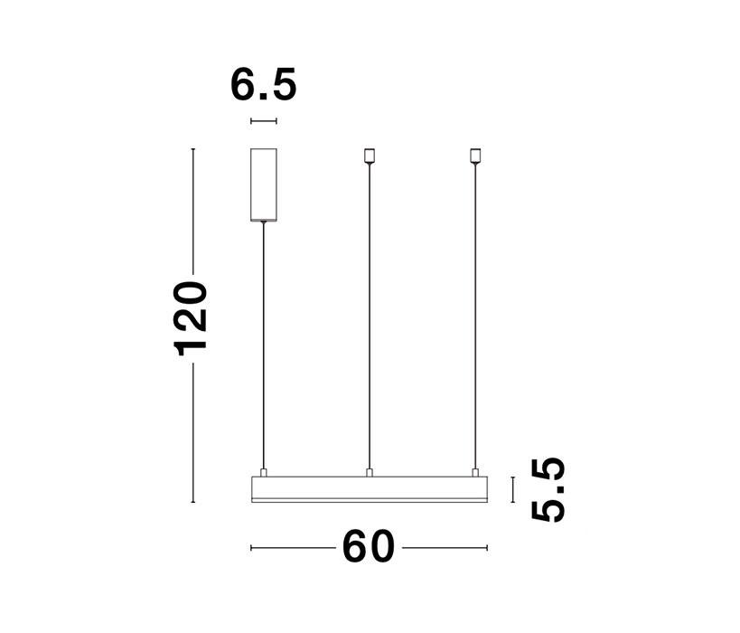 Nova Luce NL-9190740 Motif LED függeszték