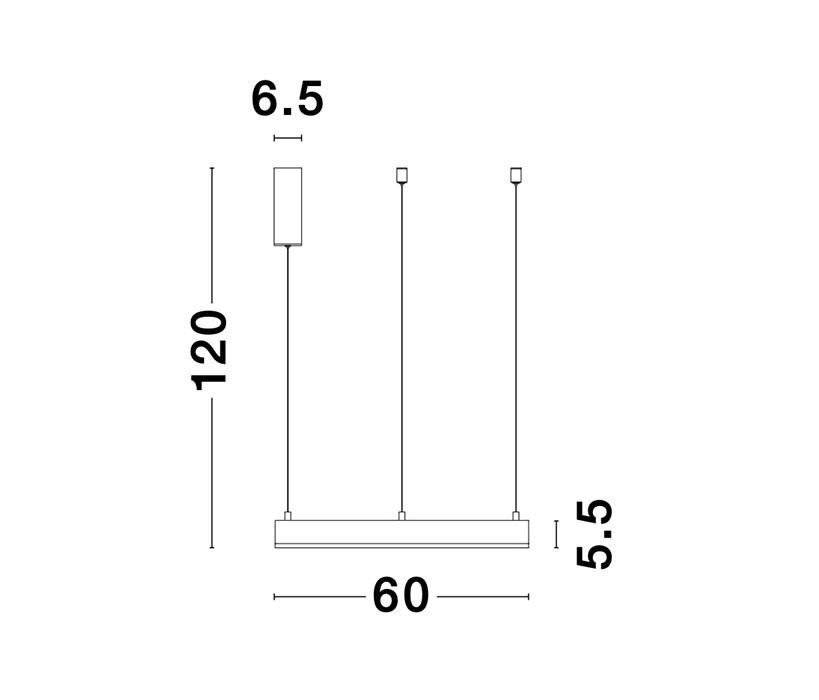 Nova Luce NL-9190840 Motif LED függeszték