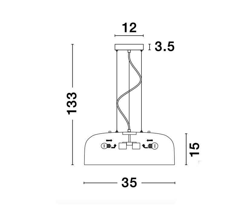 Nova Luce NL-926812 Perleto függeszték