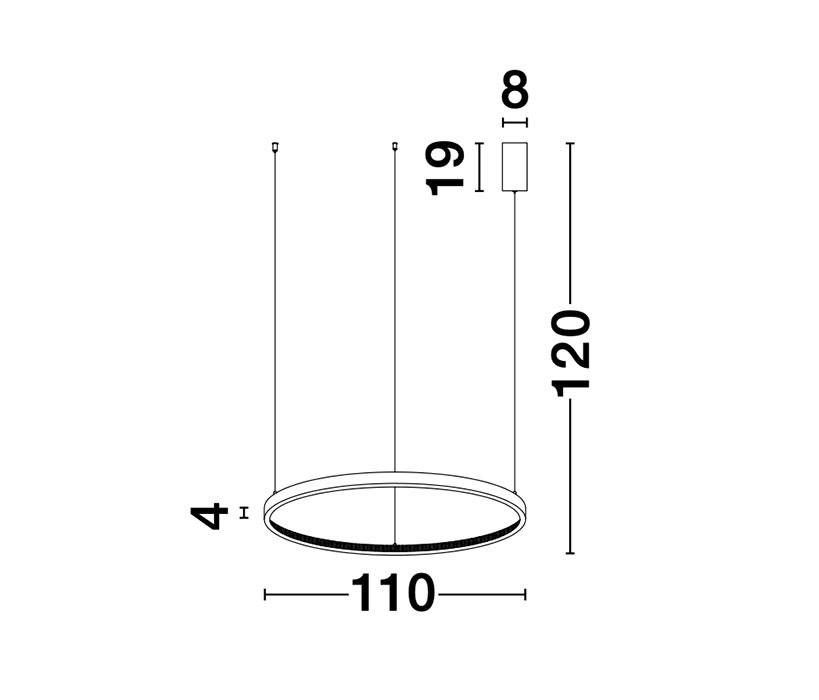 Nova Luce NL-9285110 Preston LED függeszték